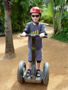 Callum on a Segway