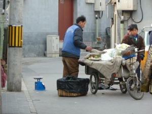 Tricycle fruit  and veg in Beijing