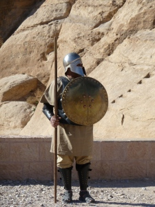 Roman soldier on the way to Petra