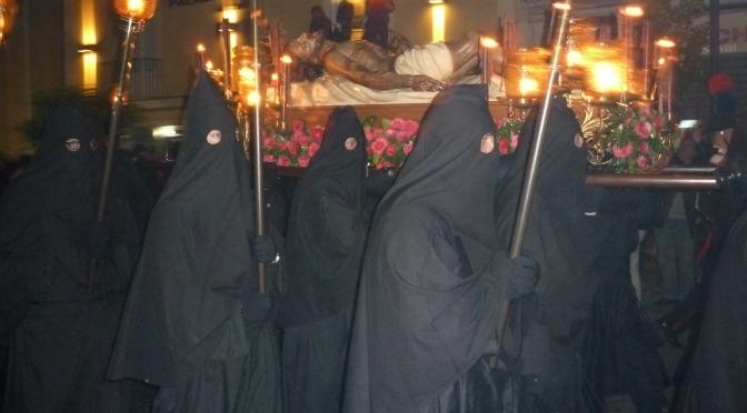 Medieval men in black