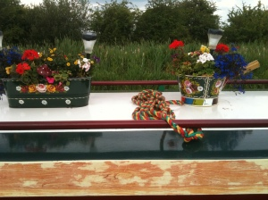 Traditional canal boat decorations