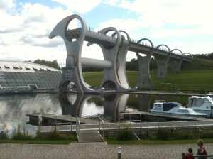 Falkirk wheel in resting mode