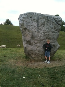 Callum is content to rest on the stone