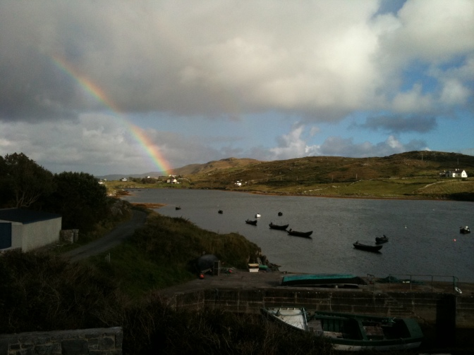 An Irish rainbow and a golden glow