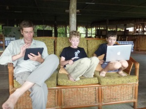 Checking real estate ads in the Amazon jungle
