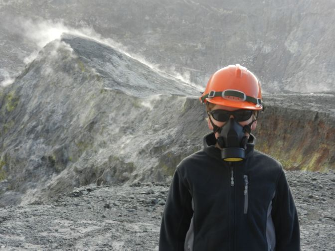 Landing on an active volcano can be dangerous