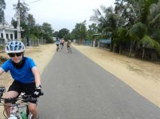 A long villgae road.