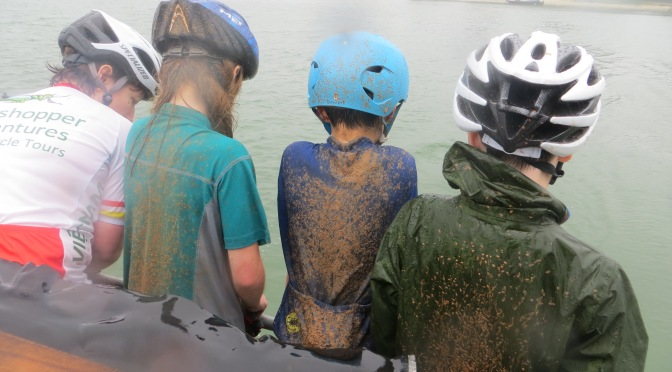 Wet and muddy and bedraggled