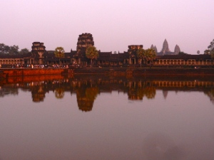 Angkor Wat sunset.