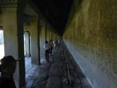 Huge bas-relief in Angkor Wat.