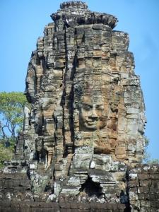 Angkor Thom faces.