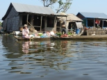 Floating village on Tonle Sap.