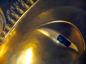 Reclining Buddha's eye.