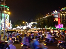 Ho Chi Minh City by night.