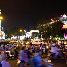Ho Chi Minh City by night.