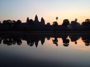 Sunrise over Angkor Wat.