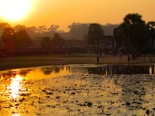 Angkor Wat as the sun sets.